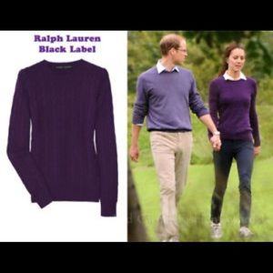 Ralph Lauren Black Label cashmere Cablekni sweater